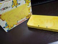 Nintendo 3DS LL XL Console Pikachu Yellow Pokemon Japan USED Limited Model