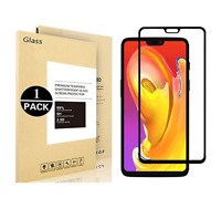 For OnePlus 6 Screen Protector Full Cover 9H Tempered Glass Screen Glass Film bw