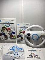 Mario Kart with Wii Wheel (Nintendo Wii, 2008) Complete With Manual