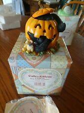 2003 Calico Kittens Enesco #112819 What a Little Pumpkin Cat Figurine Ivc0/369