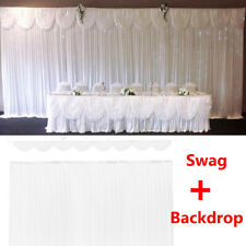 Swag Backdrop 6M Wedding Party Drape Sheer Photo Background Curtain Stage Dec