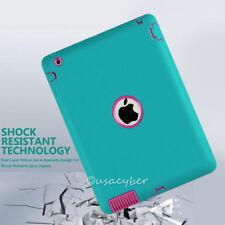 lot Case For iPad2 3 4 Mini1/2/3 Mini4 Air Shockproof Hybrid Heavy Duty Rubber