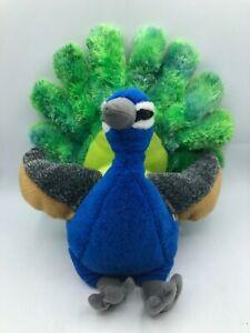 Wild Republic 2014 Peacock Peafowl Blue Bird Plush Kids Soft Stuffed Toy Animal