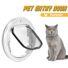 Lightweight Flap Pet Door Quiet Magnet Locking Gate Cats Dogs Small Anti-Insects