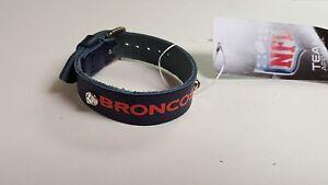 Denver Broncos Blue Ladies Leather Buckle Bracelet bling NFL Fashion Belt Style