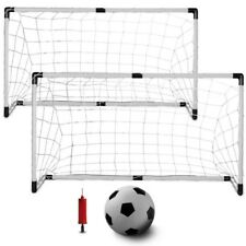 """K-Roo Youth Soccer Portable Travel Set with 2x4ft Goals, 6"""" Mini Ball & Pump"""