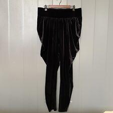 Melissa Mccarthy Seven7 Black Velour Parachute/Harem Pant Joggers Size 1X