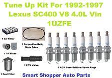 Tune Up For 1992 - 1997Lexus SC400 Spark Plugs, Oil, Air, Fuel Filter, PCV Valve