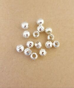 100 x Silver Round  Spacer Beads 6mm For Jewellery Making