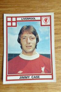 PANINI STICKER FOOTBALL 78 #204 JIMMY CASE LIVERPOOL 1978
