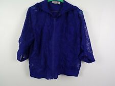 Chicos size 2 (XXL) womens purple hooded zip up blouse