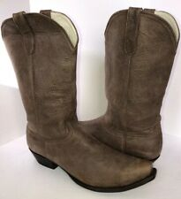 OLD GRINGO Tall Men's Soft Taupe Leather Cowboy Boots 12.5D Excellent Condition!