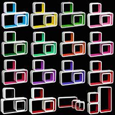 Lot de 3 étagères murales flottantes MDF étagère CD DVD murale 10 couleurs f056