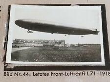 1933 Zeppelin Weltfahrten Cigarette Card German Photo 44 Letztes Luftschiff L71