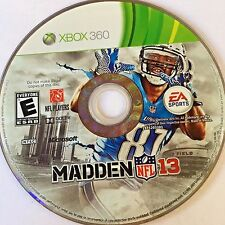 Madden NFL 13 (Xbox 360) NO CASE NO ART EXCELLENT CONDITION SHIPS FAST