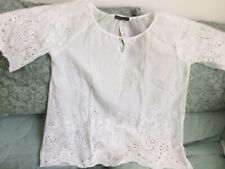 New Broderie Anglaise Top/Blouse/Tunic Size 18/20/22 3XL White/Cotton