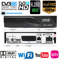 Scart H265/Hevc 2 Digital Broadcasting Tv Box Dvb T2  h.265 HEVC receiver RJ45