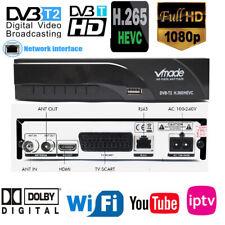 Scart H265/Hevc 2 Digital Broadcasting Tv Box Dvb T2  h.265 HEVC receiver RJ45