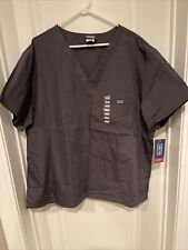 Cherokee Workwear Men's V-Neck Top Style#4789 Pewter Gray Size 2Xl Nwt