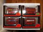 JOB LOT OF 4 EFE LONDON ROUTEMASTER BUSES 4MM 1:76 SCALE
