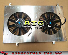 Aluminum Radiator Shroud + Thermo Fan for Nissan Y60 PATROL GQ 4.2L petrol 87-97