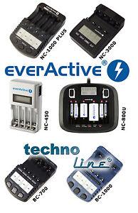 Inteligentes Ladegerät Technoline BC 700 1000  EverActive NC 450 800U 1000 3000