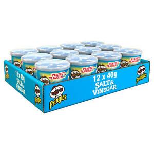 Pringles Pop & Go Travel Box  12 x 40g Salt & Vinegar Flavour