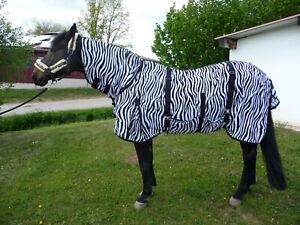 Ekzemer-Fliegendecke Zebra, Bauchlatz, Halsteil,Hinterhandbegurtung 155cm NEU