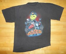 Vintage 1990s 90s ALIEN MADE Biker Motorcycle Black Shirt - Adult Size