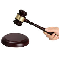 Handmade Wooden Judge Gavel Mallet Legal Hammer Auctioneer Sale Hammer