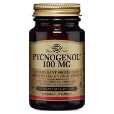 Solgar Pycnogenol 100 mg 30 Vegetable Capsules Made In USA, FREE US SHIPPING