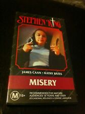 Steven King Misery VHS James Caan Kathy Bathes Time Life Village Roadshow VG