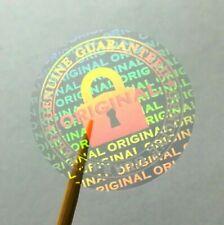 Hologram warranty transparent Tamper Proof Label Security Stickers 20 mm dia