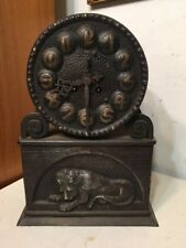 Rare Lenzkirch Lion Clock Austrian Vienna Secession Arts & Crafts Hidden Safe