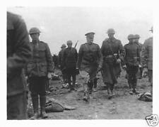"US Army General John Pershing Inspecting Troops World War 1 5x4"" Reprint Photo a"