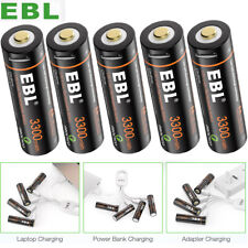 Lot USB Rechargeable Batteries 1.5v AA 3300mWh Li-ion Lithium w/ Micro USB Cable