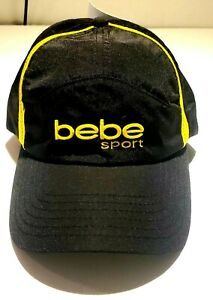 WOMEN'S WORKOUT HAT BLACK BASEBALL CAP BEBE SPORT FASHION ADJUSTABLE CAP SIZE OS