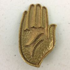 Vtg Coro Gold Tone Hand Palm Brooch