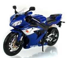 Maisto 1:12 Yamaha YZF R1 Motorcycle Bike Model Blue New