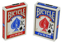 Bicycle JUMBO INDEX Deck of Playing Cards red or blue 808 RIDER Poker Sealed