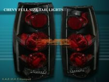 88-98 CHEVY FULL SIZE SIERRA C10 TAIL LIGHTS DARK SMOKE 96 95