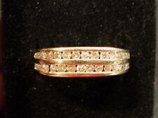 FABULOUS 14K GOLD RING w/ 32 CHANEL SET DIAMONDs - LOOK !