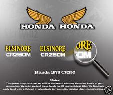 HONDA 1976 CR250M CR250 SIDE COVER FUEL TANK DECAL SET