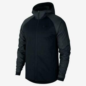 Nike Therma Winterized Men's Basketball Hoodie CZ2448-010 Black Full-Zip Jacket