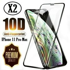 2X Apple iPhone 11 Pro-Max Tempered Glass Full Screen Protector  Free Return