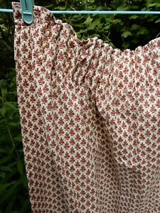 LAURA ASHLEY FLORAL VINTAGE CURTAINS - CREAM - BROWN 1950's 1960's
