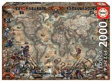 Pirates Map Of The World ~ 2000 Piece Educa Jigsaw Puzzle