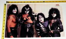 KISS Band 1982 Creatures Of The Night Frehley Poster Okej Magazine Centerfold