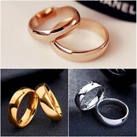 Mens gold silver rose PLAIN wedding ring band K - Z4 engagement new ladies MN96