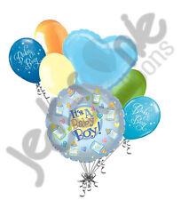 7 pc It's a Baby Boy Bottle Shower Balloon Bouquet Party Decoration Infant Blue
